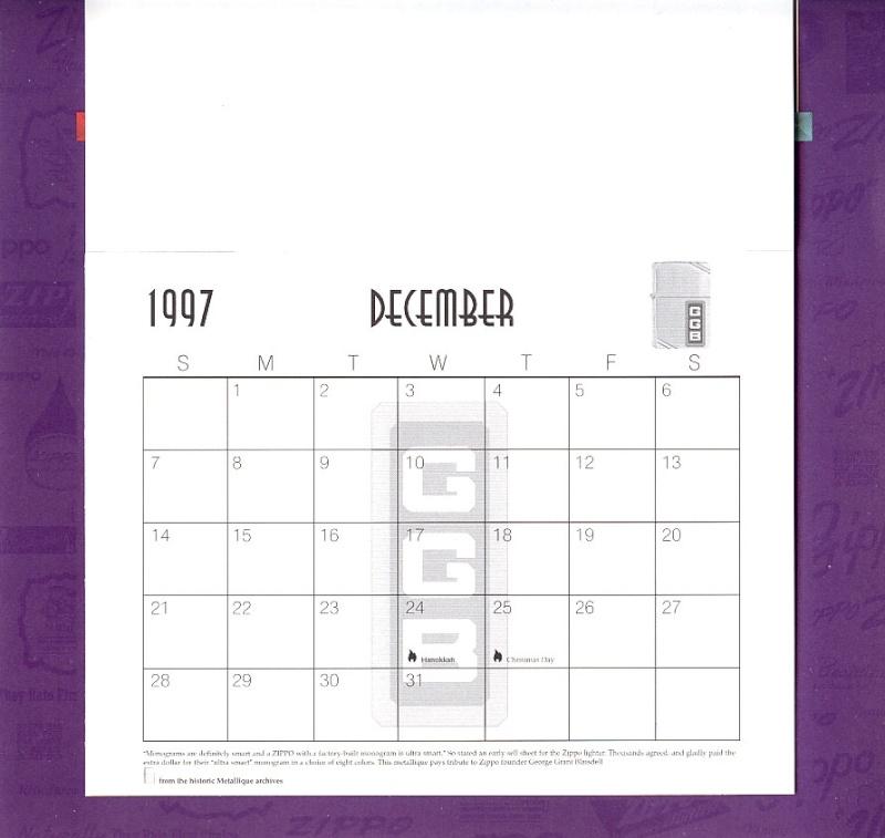 Les accessoires ZIPPO de Bleck (MàJ du 11 01 14) - Page 2 Calend36