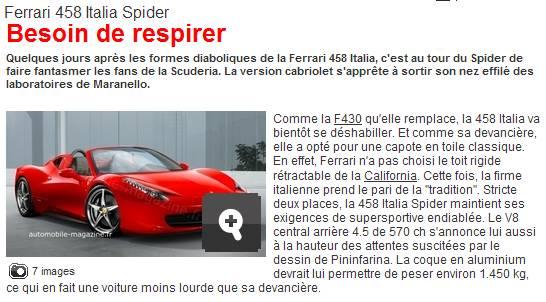 nouvelle ferrari 458 Spider12