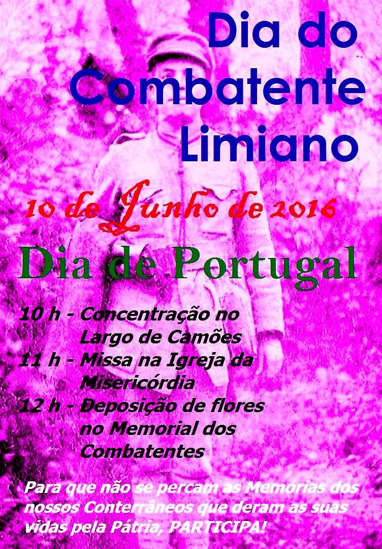 Ponte de Lima: 10Jun2016 - Dia do Combatente Limiano Dia_do10