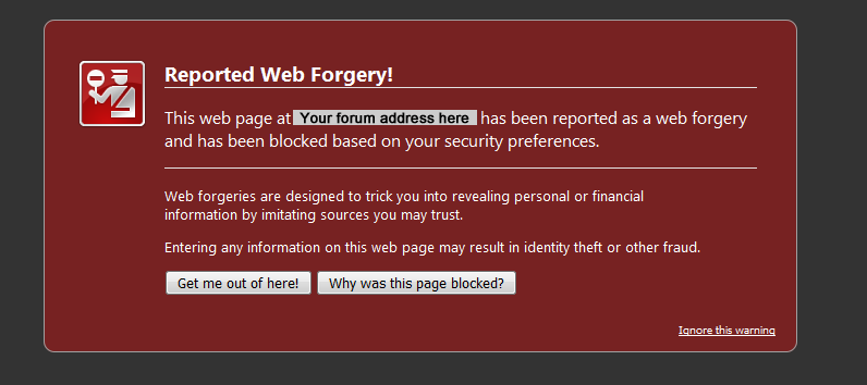"""""""Misleading website"""" security issue reported by Google Captur18"""