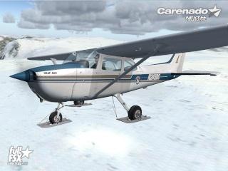 Carenado lança C172N SKYHAWK II SKI, para o FSX 710