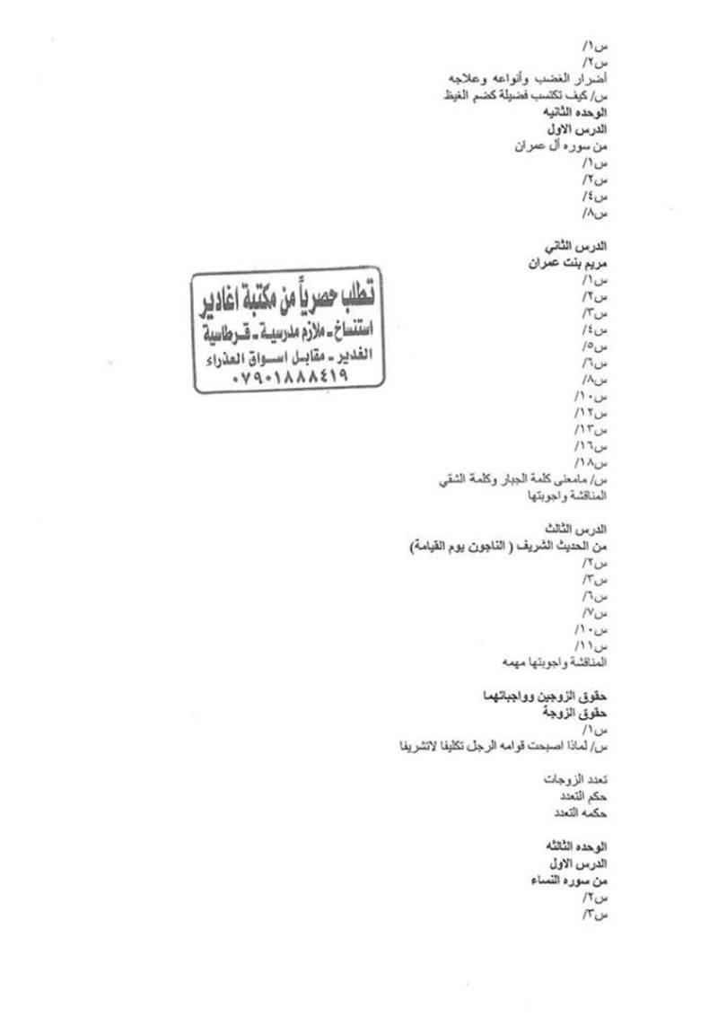 أجدد مرشحات التربية الاسلامية للسادس الاعدادى 2018  - صفحة 2 150