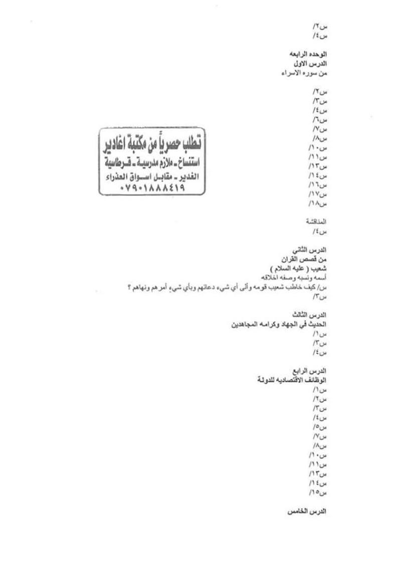أجدد مرشحات التربية الاسلامية للسادس الاعدادى 2018  - صفحة 2 249