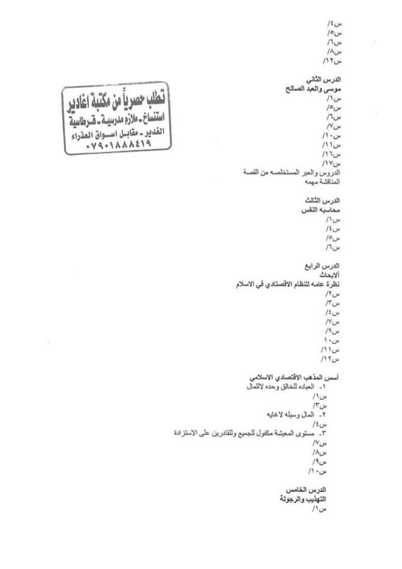 أجدد مرشحات التربية الاسلامية للسادس الاعدادى 2018  - صفحة 2 348