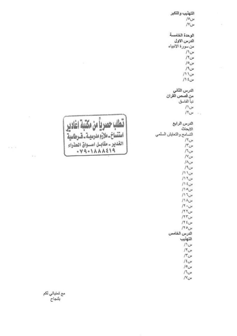 أجدد مرشحات التربية الاسلامية للسادس الاعدادى 2018  - صفحة 2 443