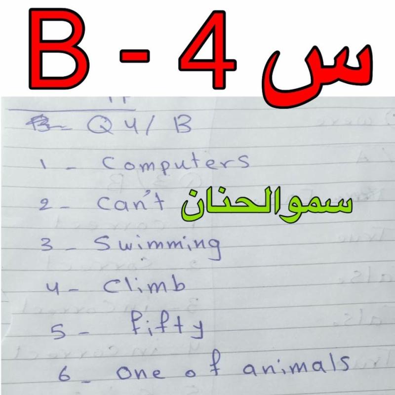 حل أسئلة امتحان اللغة الانكليزية للصف السادس الابتدائى 2016 فى العراق الدور الأول  726