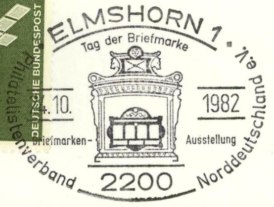 Sonderstempel Tag der Briefmarke Elmsho10