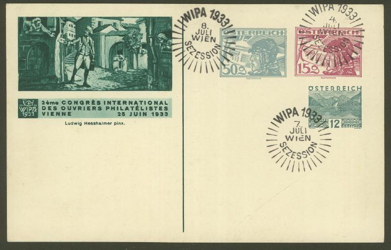 Privatganzsachen zur WIPA 1933 Fp_67a10