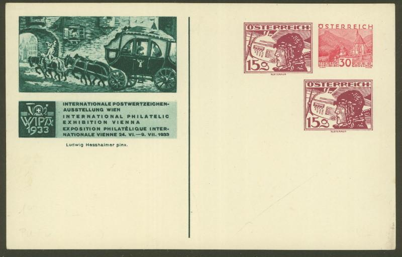 Privatganzsachen zur WIPA 1933 Fp_dre10