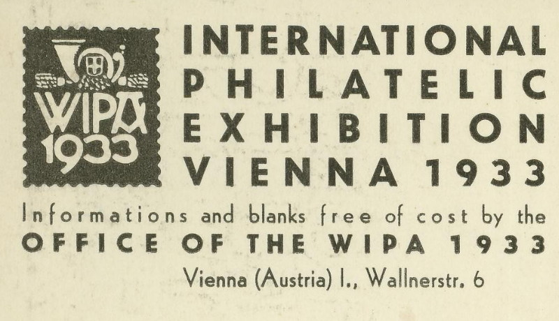 Privatganzsachen zur WIPA 1933 Pp102-10