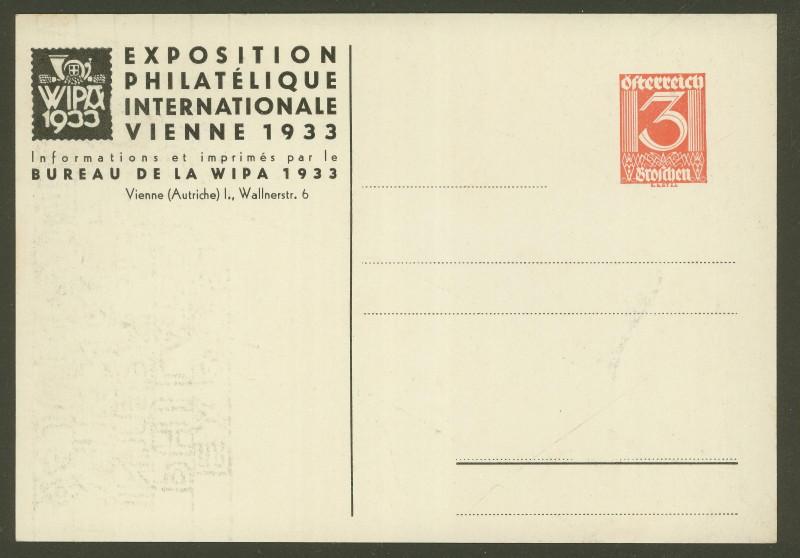 Privatganzsachen zur WIPA 1933 Pp102-11