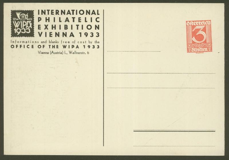 Privatganzsachen zur WIPA 1933 Pp102-12
