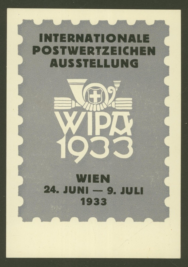Privatganzsachen zur WIPA 1933 Pp103-18