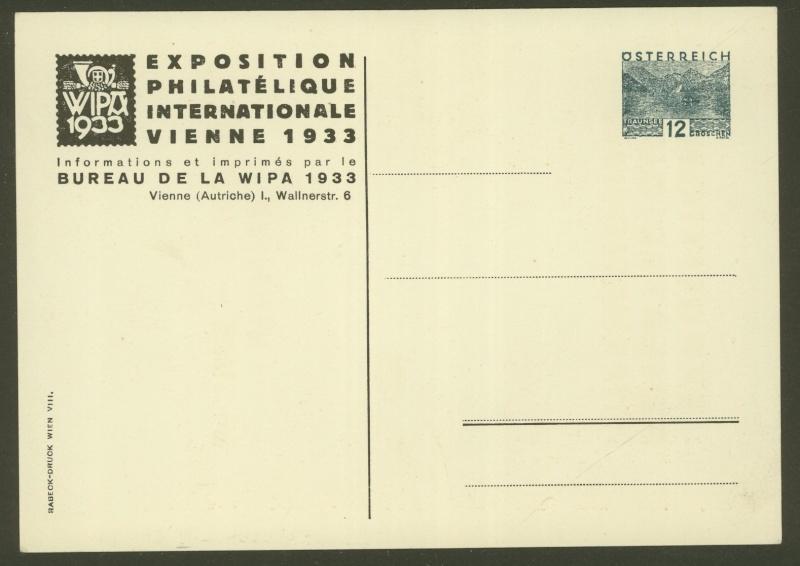 Privatganzsachen zur WIPA 1933 Pp109-10