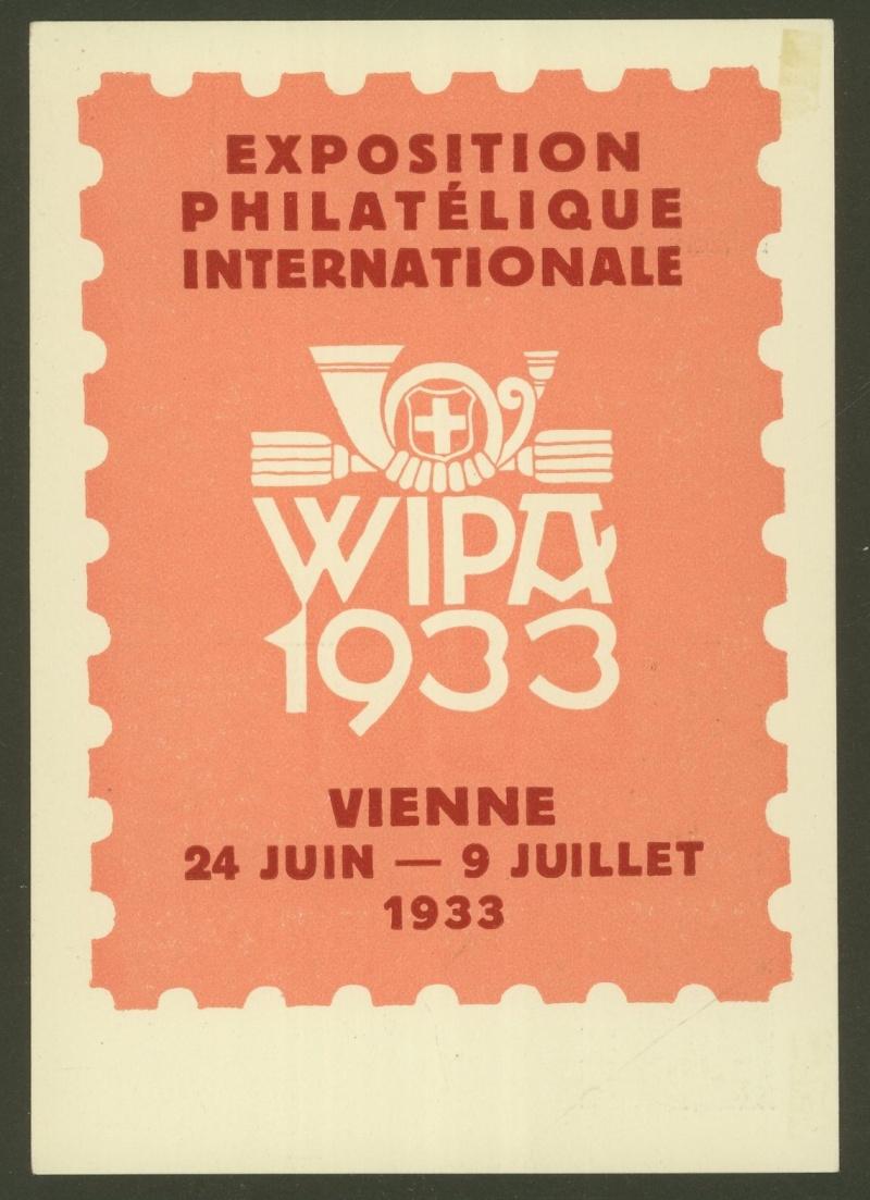 Privatganzsachen zur WIPA 1933 Pp109-11