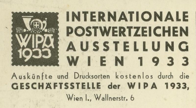 Privatganzsachen zur WIPA 1933 Pp_10310