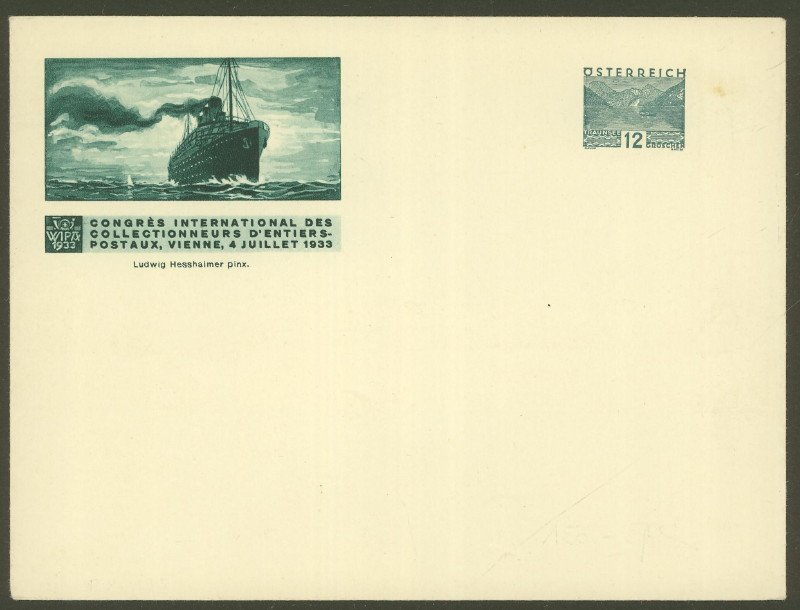 Privatganzsachen zur WIPA 1933 Pu_19510