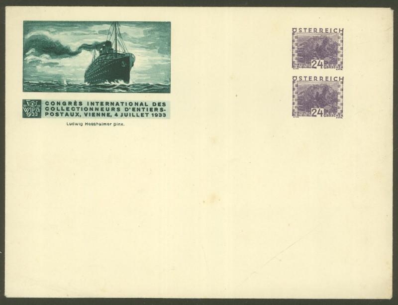 Privatganzsachen zur WIPA 1933 Pu_20710