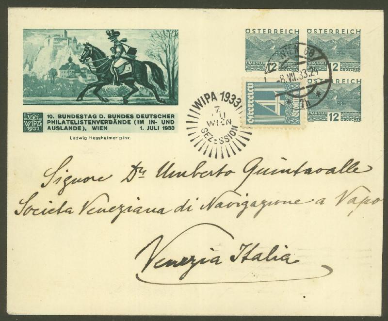 Privatganzsachen zur WIPA 1933 Pu_21711