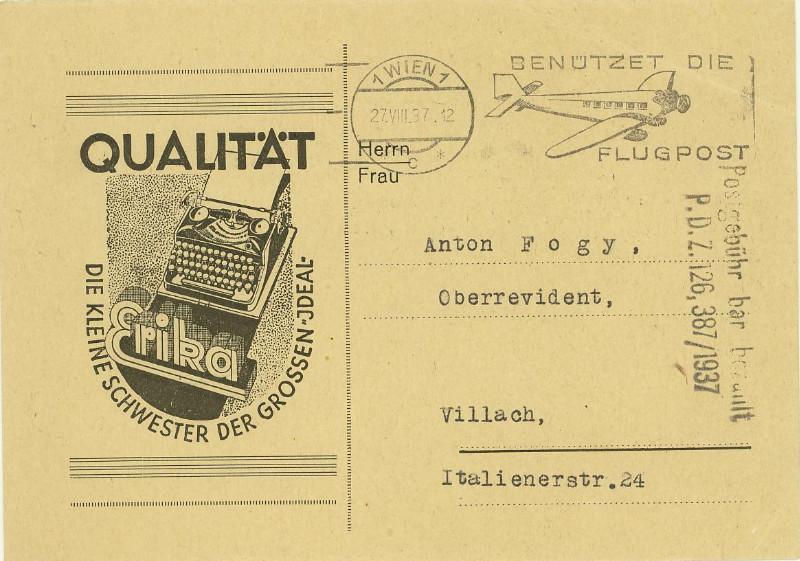 Werbeumschläge und -karten aus Österreich - Seite 5 Schrei10