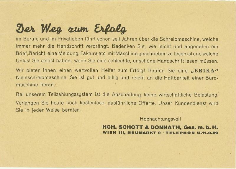Werbeumschläge und -karten aus Österreich - Seite 5 Schrei11