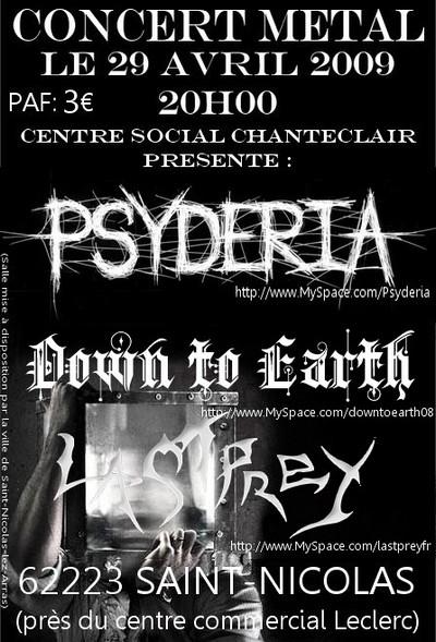 Last Prey w/ Psydéria + Down to earth @ Saint nicolas (62) le 29/04/09 29040910