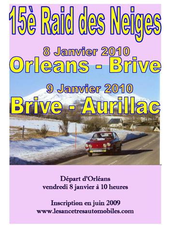 15è Raid des Neiges - 8 et 9 Janvier 2010 Affich12