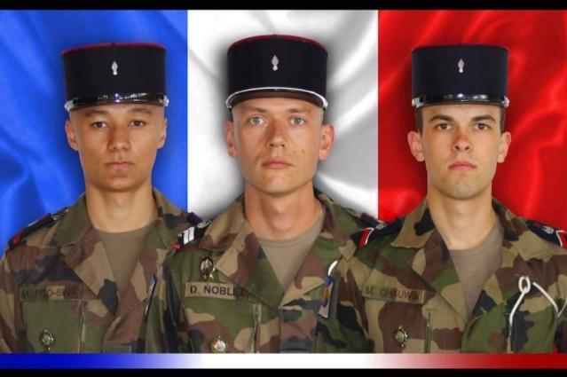 Le maréchal-des-logis Damien Noblet, le brigadier Michael Chauwin et le soldat Mickaël Poo-Sing du 511e RT ont été tués au Mali 13000010