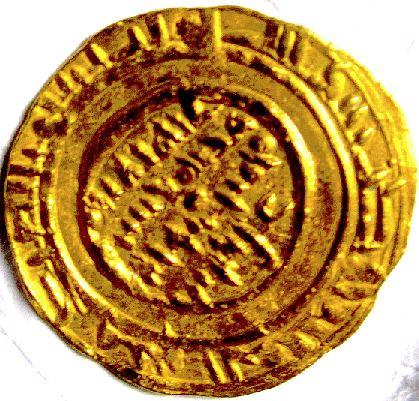 Dinar du calife fatimide al-Mustansir... Dinarb10