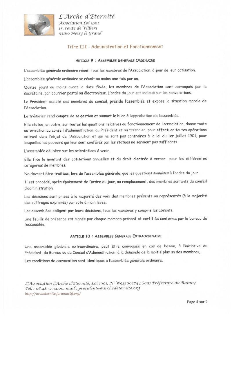 STATUTS DE L'ASSOCIATION L'ARCHE D'ETERNITE 2016_032