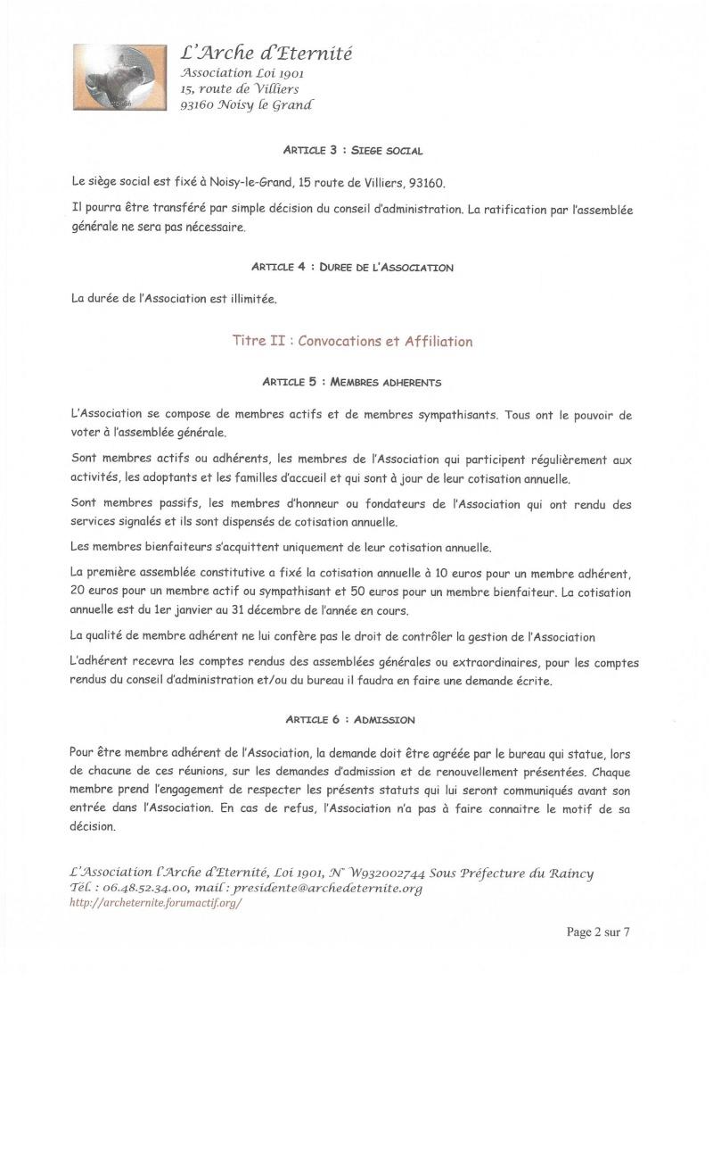 STATUTS DE L'ASSOCIATION L'ARCHE D'ETERNITE 2016_033