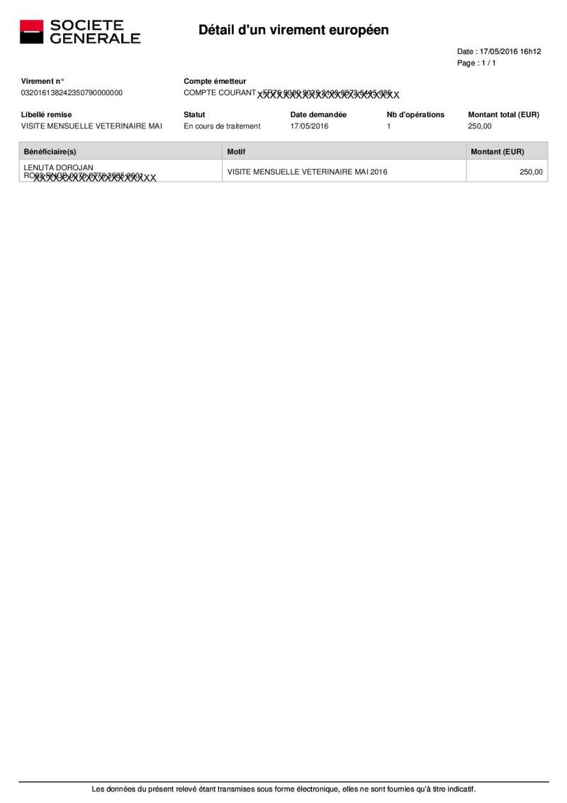 CAGNOTTE ET COMPTE-RENDU DE LA  VISITE MENSUELLE D'UN VETERINAIRE AU REFUGE - Page 4 2016_047