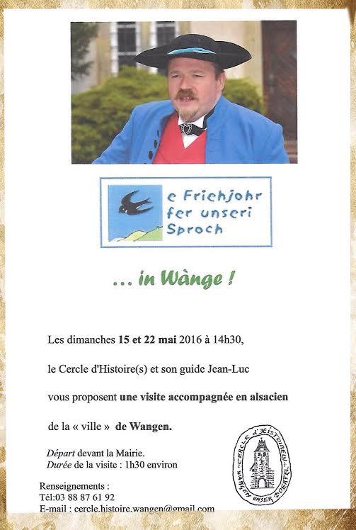 Visite accompagnée de Wangen en alsacien les dimanches 15 et 22 mai 2016 01e93110