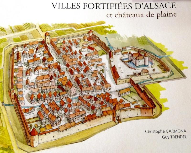"""La """"ville"""" de Wangen  avant la guerre de trente ans, imaginée et illustrée par Christophe Carmona 12987210"""