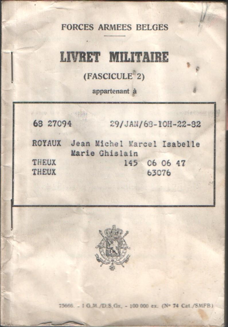 le Livret Militaire Cmjm0110