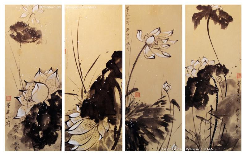 Mẫu tranh điểu khắc nổi đẹp  Lotus-10