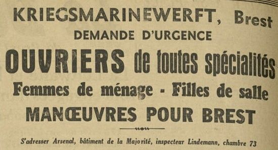 Les unités allemandes stationnées à Brest Kriesg11