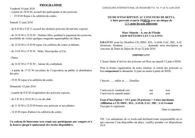 Challenge international 2016/ Dijon, 10/12 juin. Concou10