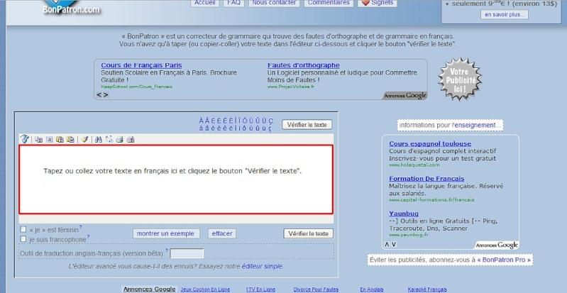 outil de correction en ligne Sans_t50