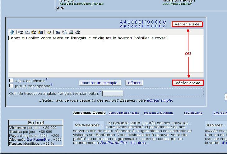 outil de correction en ligne Sans_t56