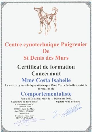 Mes certificats français animaliers Compor10
