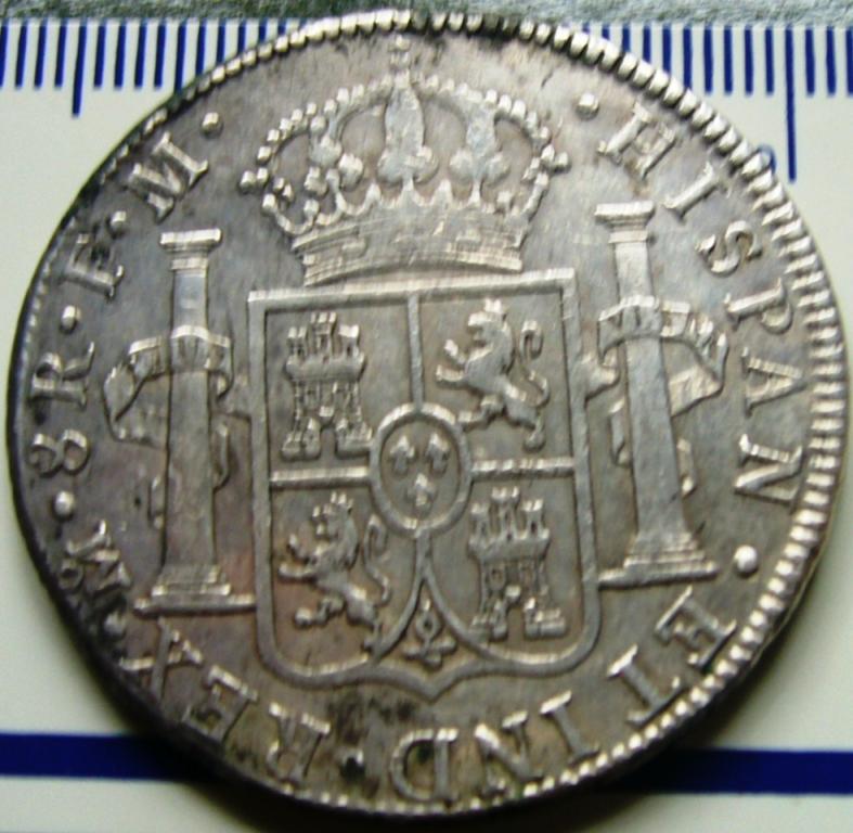 España. Carlos IV (1788-1808). 8 Reales 1807 POTOSÍ* EROSIONES MARINAS * Antes_11