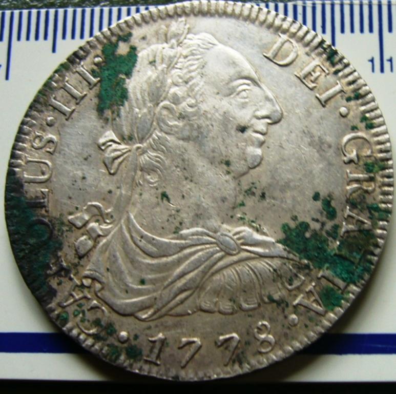 España. Carlos IV (1788-1808). 8 Reales 1807 POTOSÍ* EROSIONES MARINAS * Antes_12