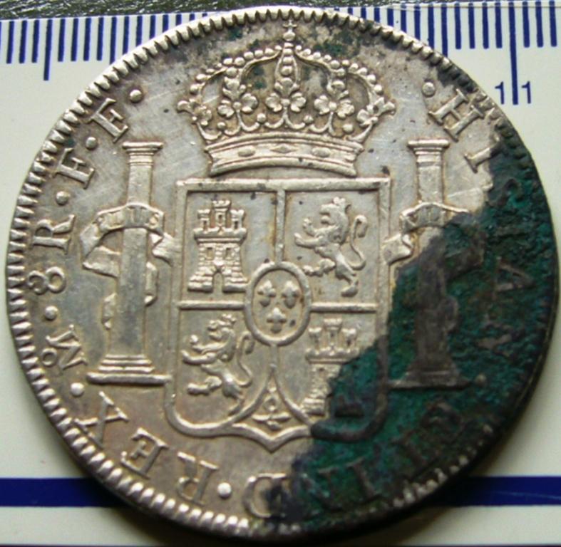 España. Carlos IV (1788-1808). 8 Reales 1807 POTOSÍ* EROSIONES MARINAS * Antes_13