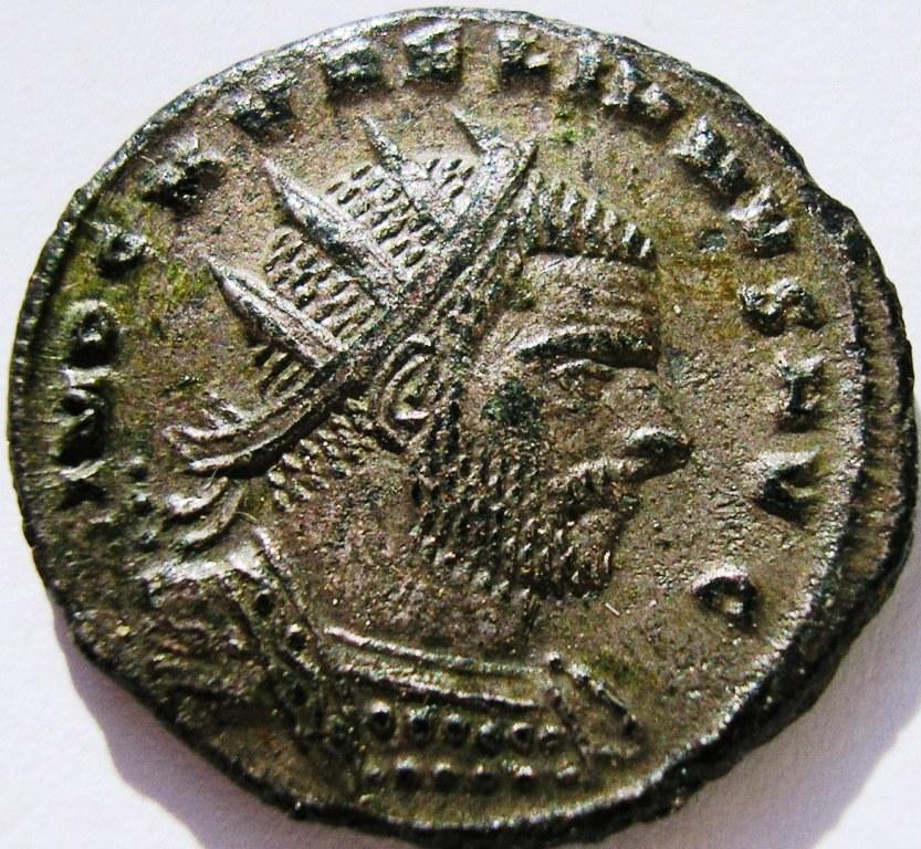 Antoniniano de Aureliano.  RESTITVTOR  ORBIS. Cízico Aureli10