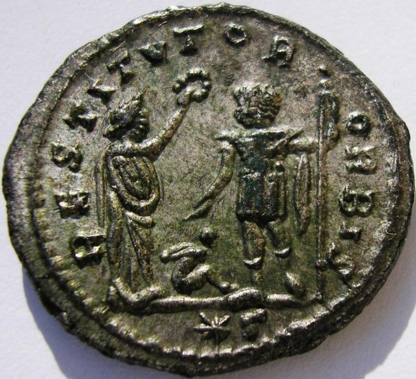 Antoniniano de Aureliano.  RESTITVTOR  ORBIS. Cízico Aureli11