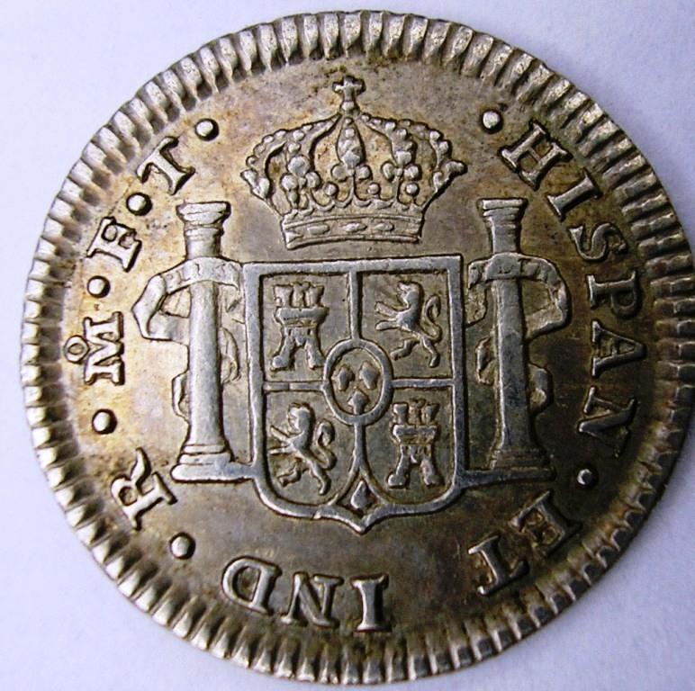 1802 Méjico Medio real. Car_iv15