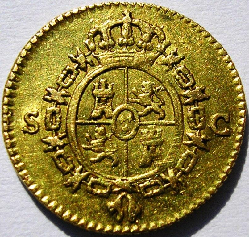 medio escudo de oro de Carlos III, de 1778, Sevilla Carlos13