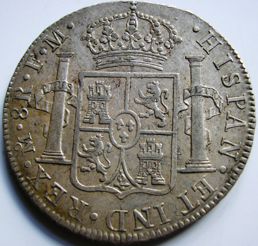España. Carlos IV (1788-1808). 8 Reales 1807 POTOSÍ* EROSIONES MARINAS * Carlos15