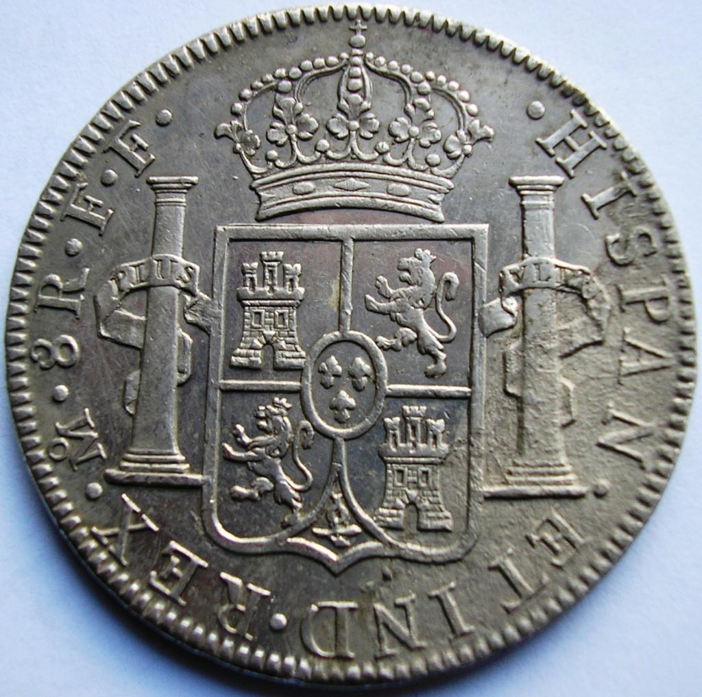 España. Carlos IV (1788-1808). 8 Reales 1807 POTOSÍ* EROSIONES MARINAS * Carlos17